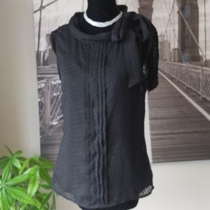 Black Side Bow Blouse